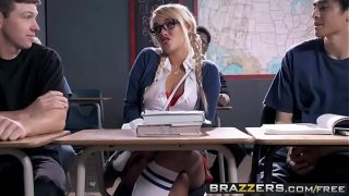 Naughty school girl (Alexis Monroe) gets spanked and  ass fucked – Brazzers